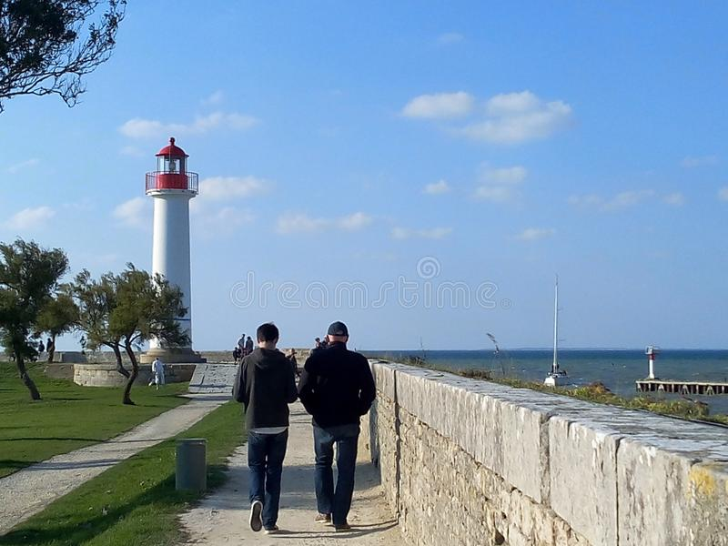 Lighthouse in the north of France stock image