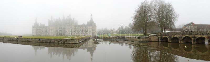 France. Loire Valley. Castelo de Chambord. Panorama fotos de stock