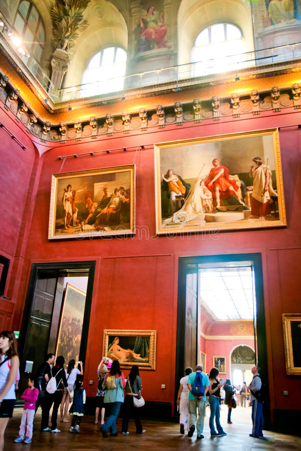 france louvre muzeum Paris obraz stock