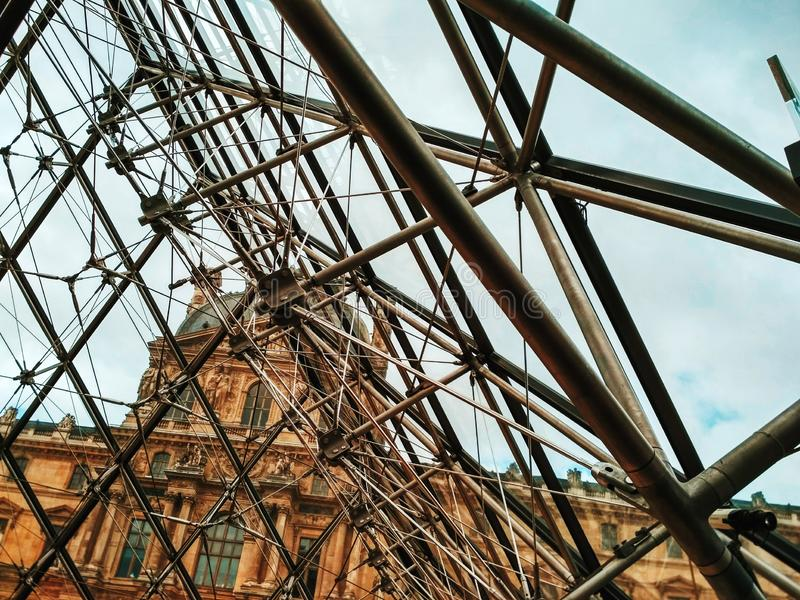france louvre muzeum Paris fotografia royalty free
