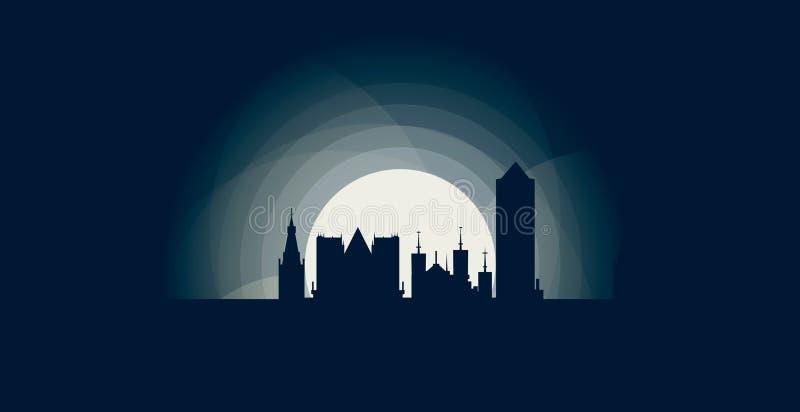 Lyon city skyline shape logo icon illustration stock illustration