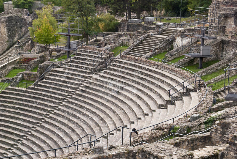 france Lyon rzymski ruin teatr fotografia royalty free
