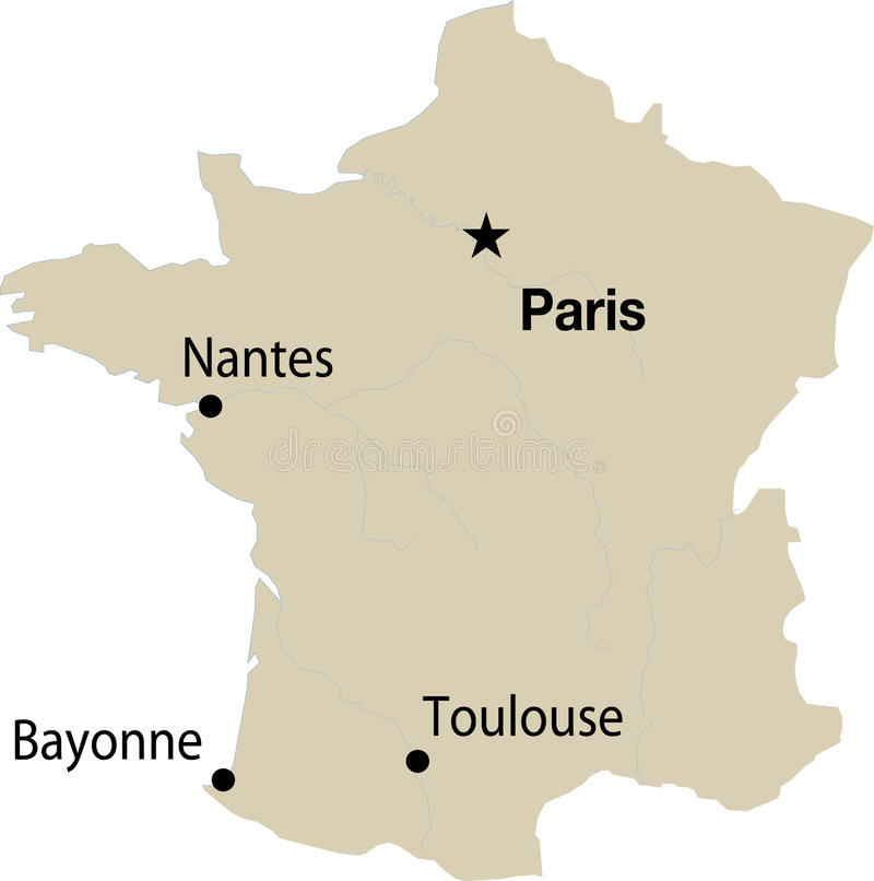 France Map Stock Images
