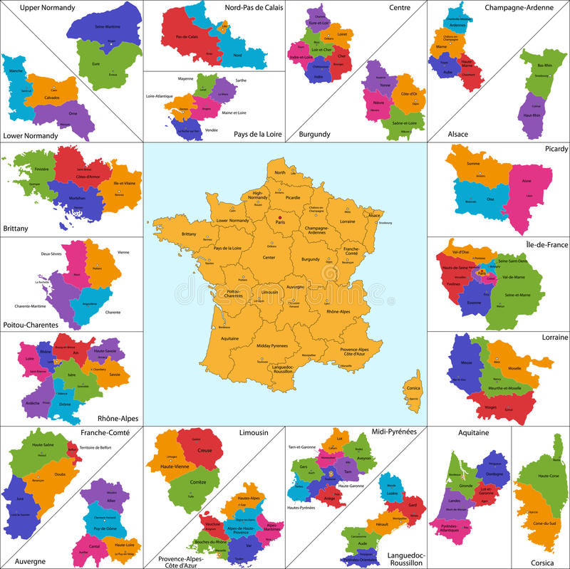Download France map stock vector. Image of french, countries, earth - 32187761