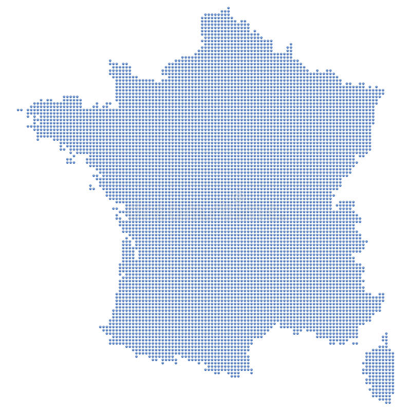 Download France map dots stock vector. Image of chart, geography - 11005893