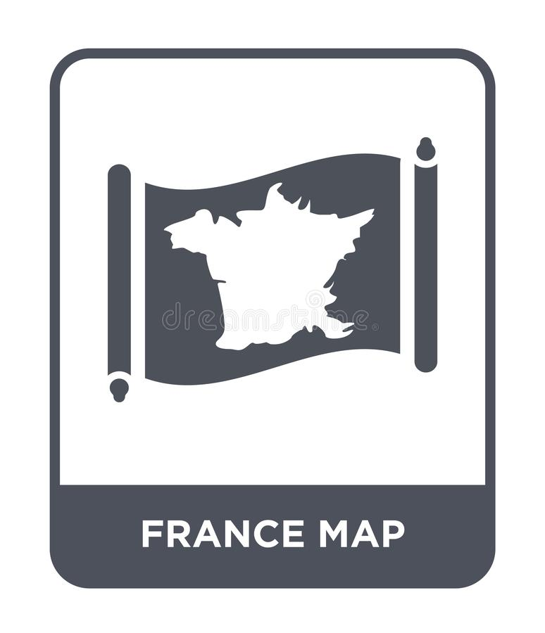 France map icon in trendy design style. france map icon isolated on white background. france map vector icon simple and modern. Flat symbol for web site, mobile royalty free illustration