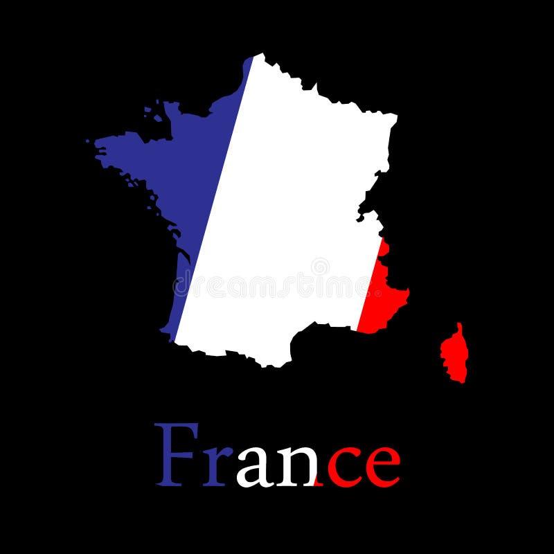 France map in white background stock illustration