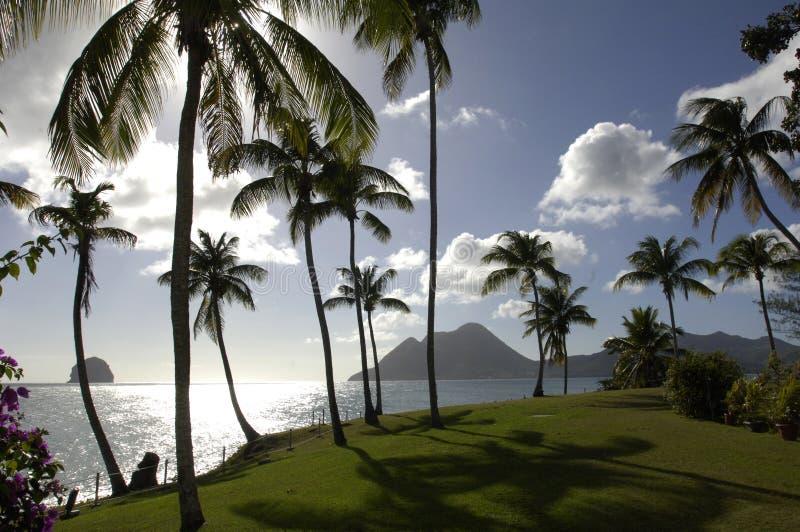France, Martinique, diamont rock royalty free stock photos