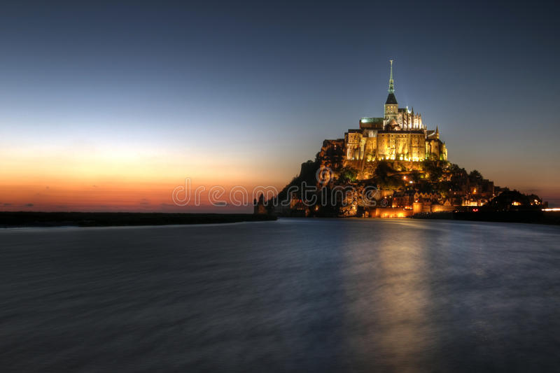 france michel montnormandy saint arkivbilder