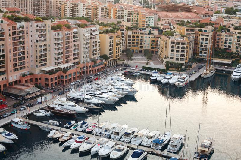 france monaco Port avec des yachts photo stock