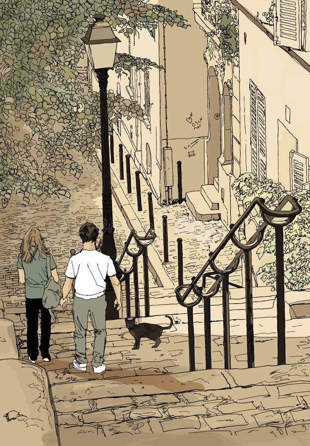 france montmartre Paris ilustracja wektor