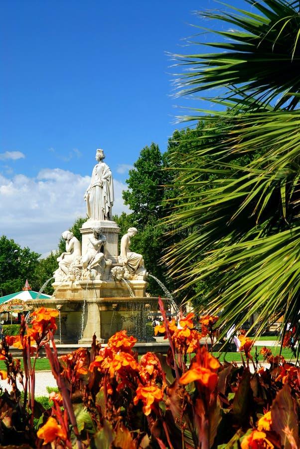 France Nimes city park fotografia stock