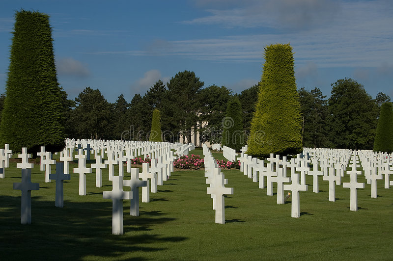 France, Normandy American war cemetery. American war cemetery in Normandy, France stock image