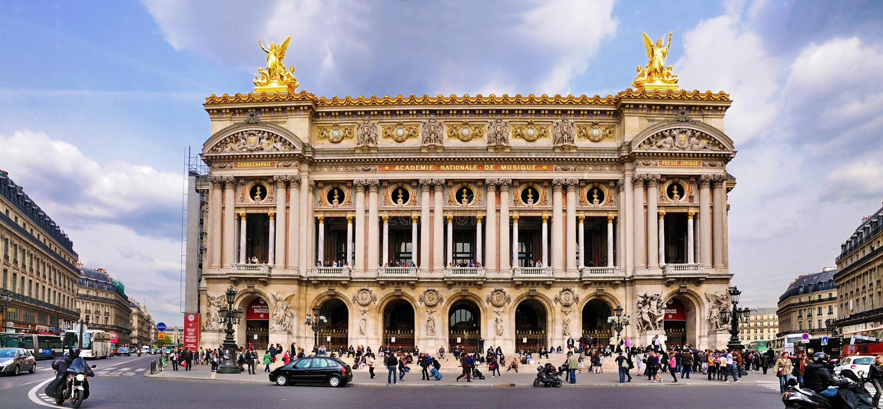 france opera paris arkivbild