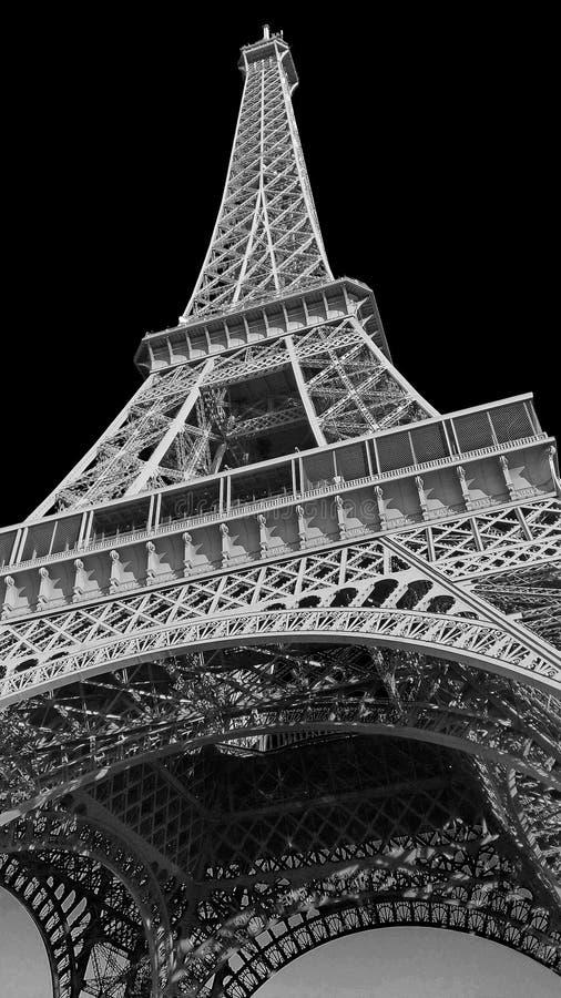 france parigi Elaborazione di arte della torre Eiffel in bianco e nero fotografia stock