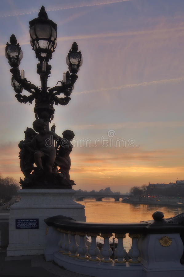 Free France - Paris - Alexandre III Bridge Stock Image - 12130561