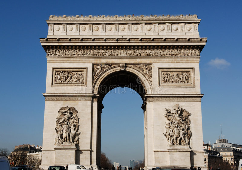 France, Paris: Arc de triomphe stock image