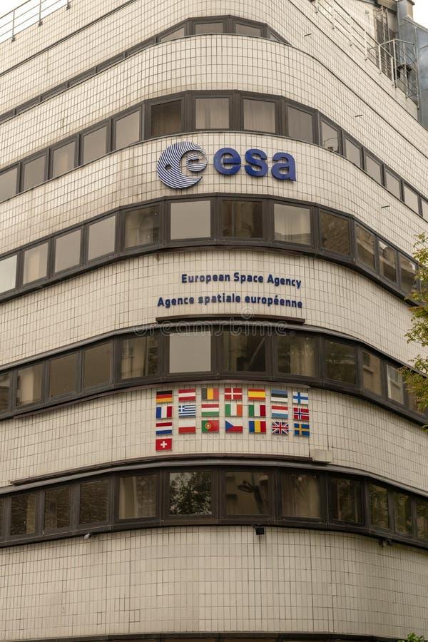 France, Paris, 2019 - 04, European Space Agency royalty free stock image