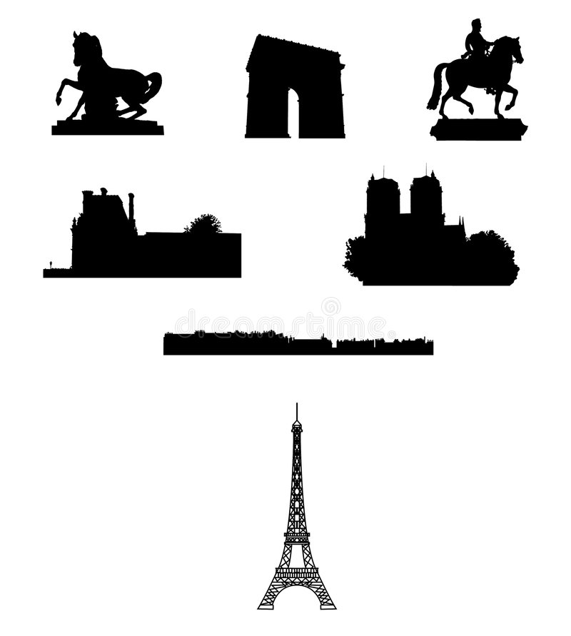 France, Paris: monumentos ilustração stock