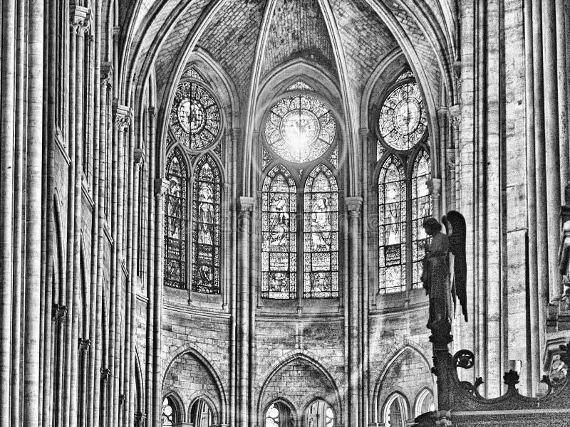 france paris 11/04/2007 Notre Dame domkyrka royaltyfri foto