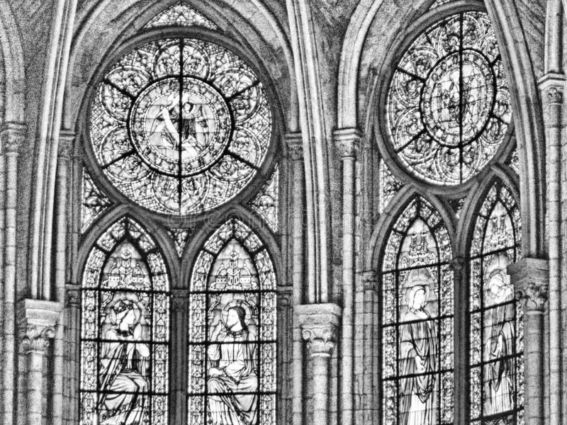 france paris 11/04/2007 Notre Dame domkyrka royaltyfria foton