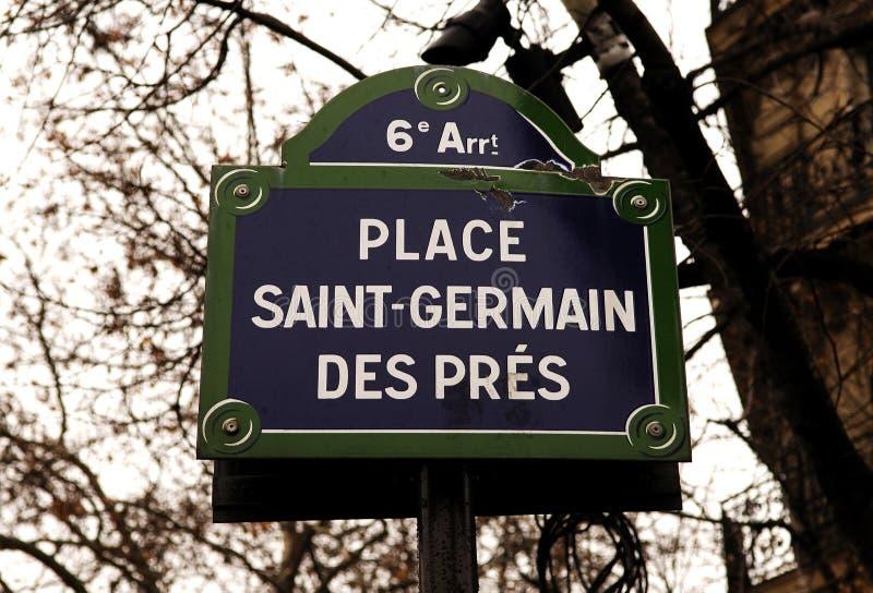 France, Paris: Pres do DES de Germano de Saint imagem de stock