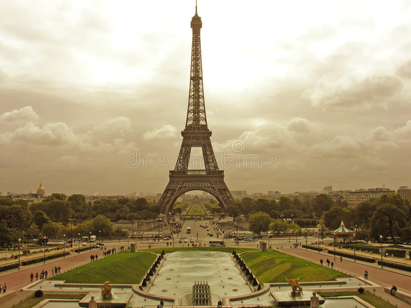 france paris sikt royaltyfria bilder