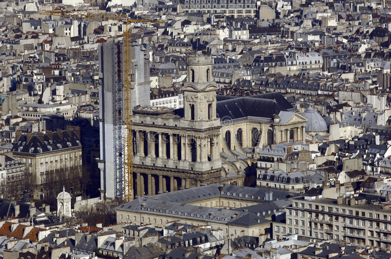 Download France, Paris; Sky City View With Church Stock Photo - Image: 4363794
