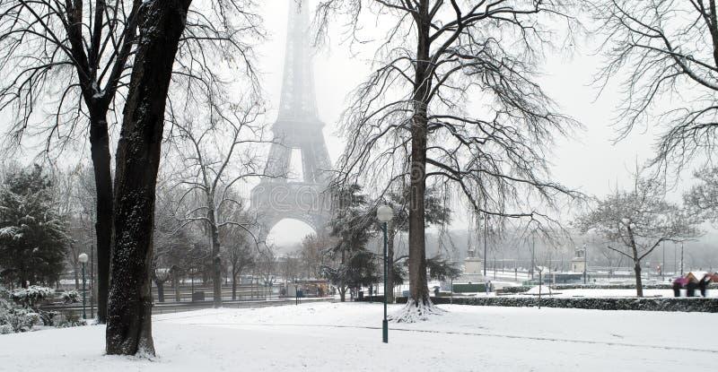 France Paris under snow stock photography