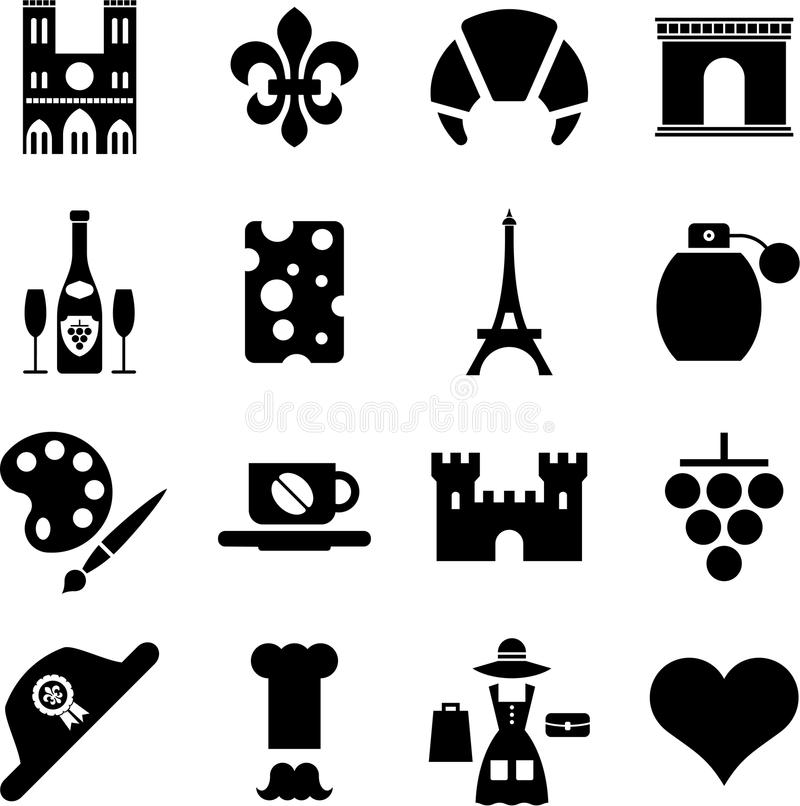 Download France pictograms stock vector. Image of city, icon, country - 22748332