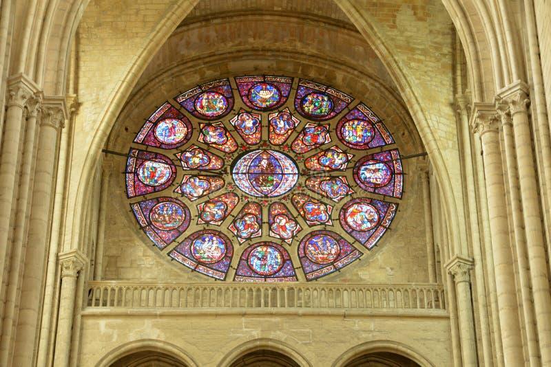 France, the picturesque city of Mantes la Jolie. Ile de France, the picturesque collegiate church of Mantes la Jolie stock photo