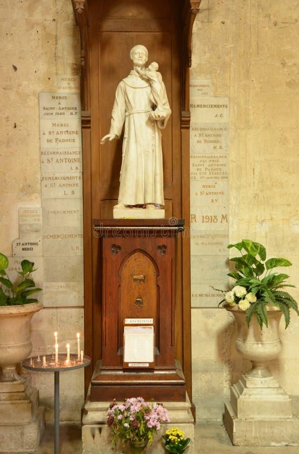 France, the picturesque city of Mantes la Jolie. Ile de France, the picturesque collegiate church of Mantes la Jolie stock photography