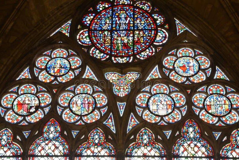 France, the picturesque city of Mantes la Jolie. Ile de France, the picturesque collegiate church of Mantes la Jolie stock photos