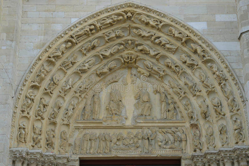 France, the picturesque city of Mantes la Jolie. Ile de France, the picturesque collegiate church of Mantes la Jolie royalty free stock photo