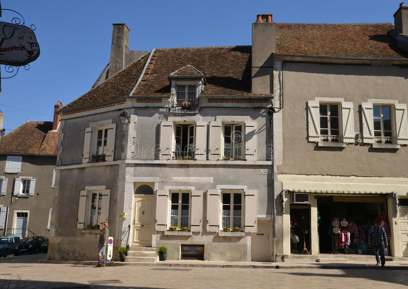 France, picturesque city of Sancerre in Cher royalty free stock image