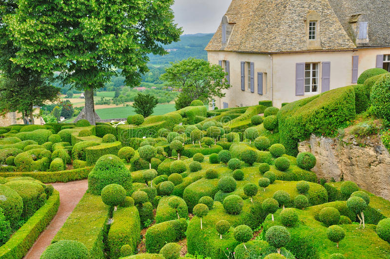 France, picturesque garden of Marqueyssac in Dordogne. France, the picturesque garden of Marqueyssac in Dordogne royalty free stock photography