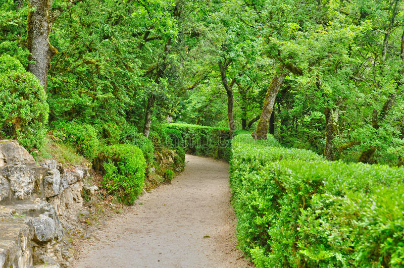 France, picturesque garden of Marqueyssac in Dordogne. France, the picturesque garden of Marqueyssac in Dordogne royalty free stock images