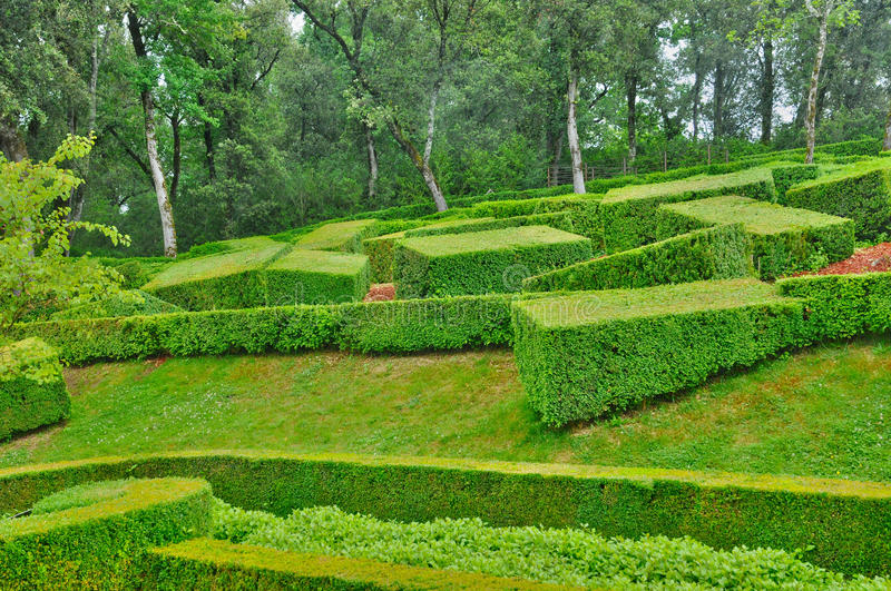 France, picturesque garden of Marqueyssac in Dordogne. France, the picturesque garden of Marqueyssac in Dordogne royalty free stock image
