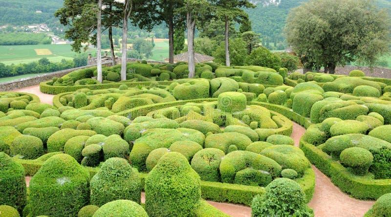 France, picturesque garden of Marqueyssac in Dordogne. France, the picturesque garden of Marqueyssac in Dordogne stock image