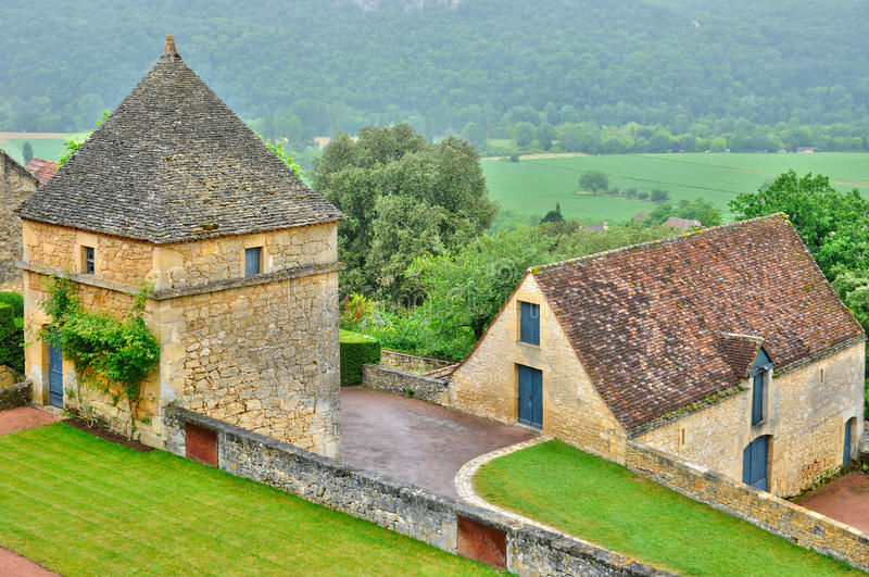 France, picturesque garden of Marqueyssac in Dordogne. France, the picturesque garden of Marqueyssac in Dordogne stock photography