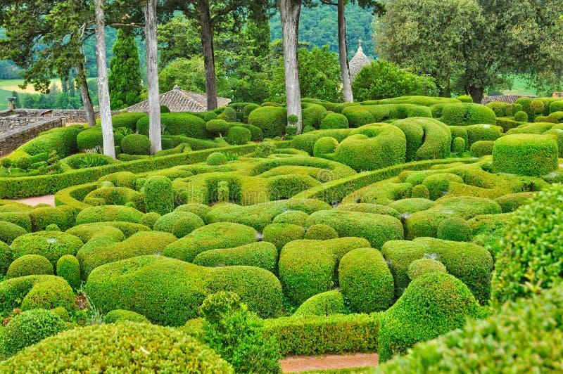 France, picturesque garden of Marqueyssac in Dordogne. France, the picturesque garden of Marqueyssac in Dordogne stock photos