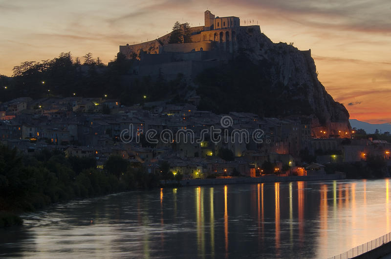 Download France - Provence - Sisteron Stock Photo - Image of night, durance: 12131968