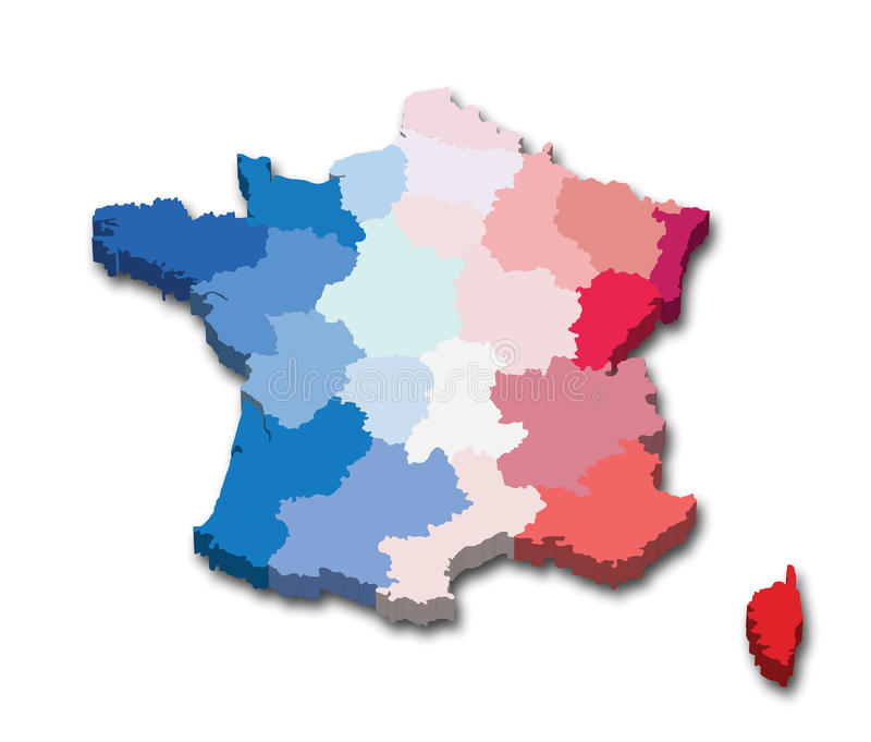 France Province Map Royalty Free Stock Photography