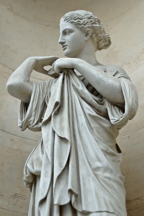 France przyklasztorna Lyon pałacu saint Pierre posąg obraz royalty free