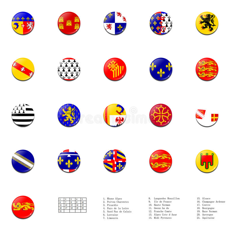 Download France regions flags ball stock illustration. Image of detail - 25630686