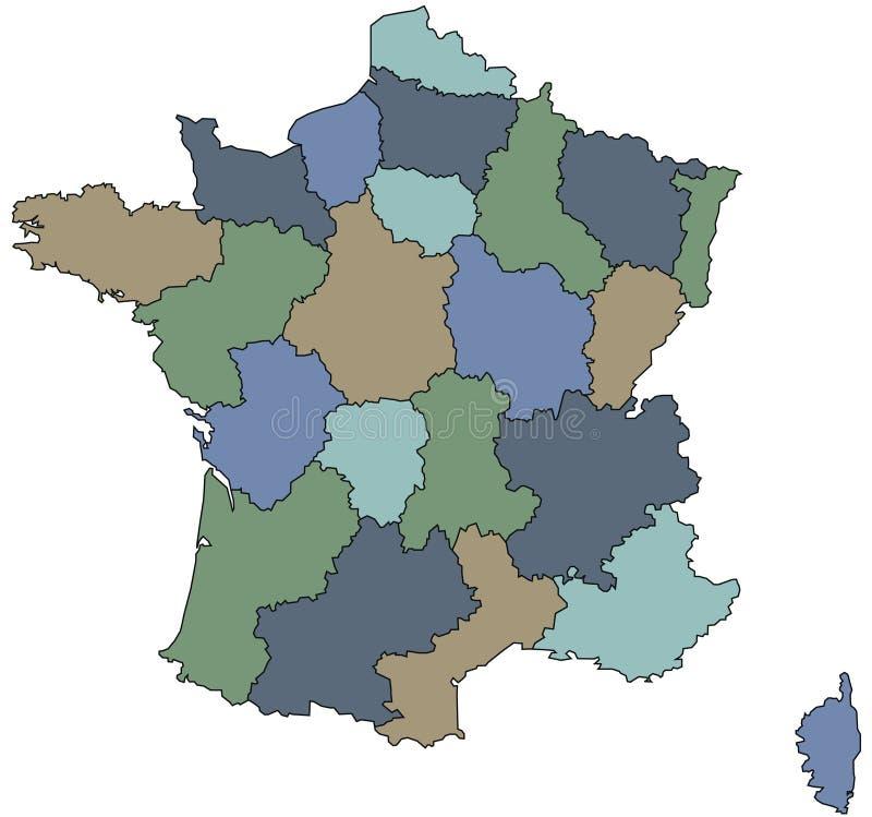 Download France regiony ilustracja wektor. Ilustracja złożonej z granica - 13338540