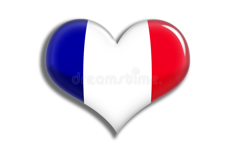 Download France shiny heart stock illustration. Illustration of patriotism - 5244543