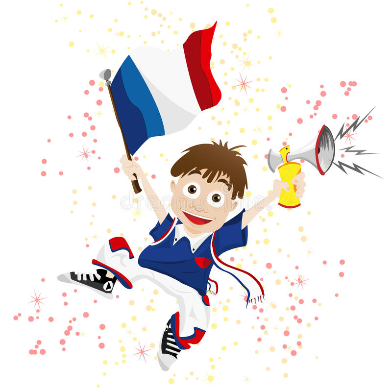 France Sport Fan vector illustration