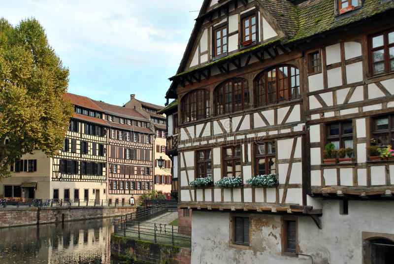 france strasbourg waterway royaltyfri bild