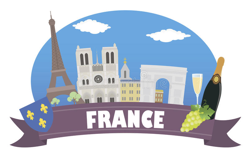 France. Tourism and travel royalty free illustration